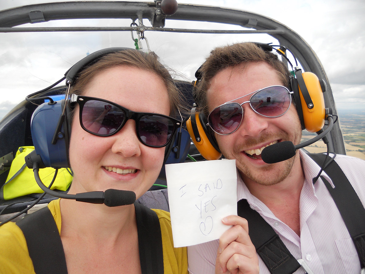 MotorGlide's first in-flight wedding proposal